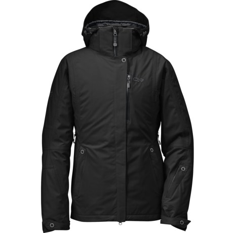 Outdoor Research glow Jacket - Waterproof, Insulated (For Women) in Black