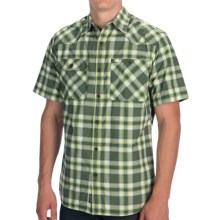 Outdoor Research Growler Shirt - Short Sleeve (For Men) in Evergreen/Lemongrass - Closeouts
