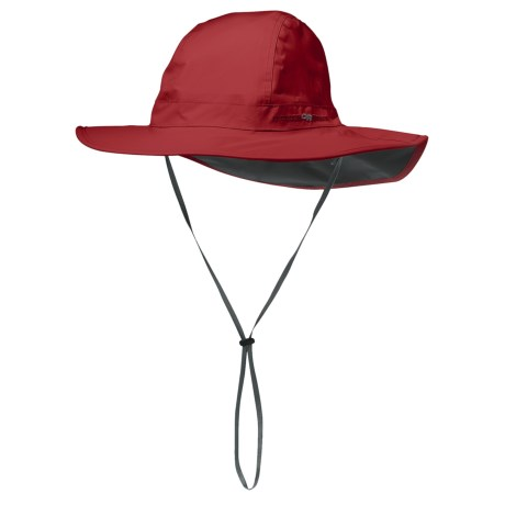 Outdoor Research Halo Sombrero Hat - Waterproof (For Men and Women) in Chili