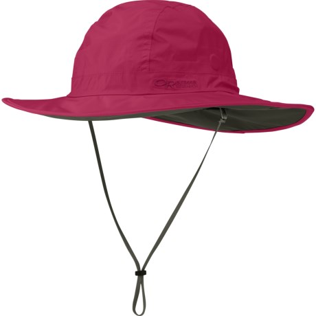Outdoor Research Halo Sombrero Hat - Waterproof (For Men and Women) in Sangria