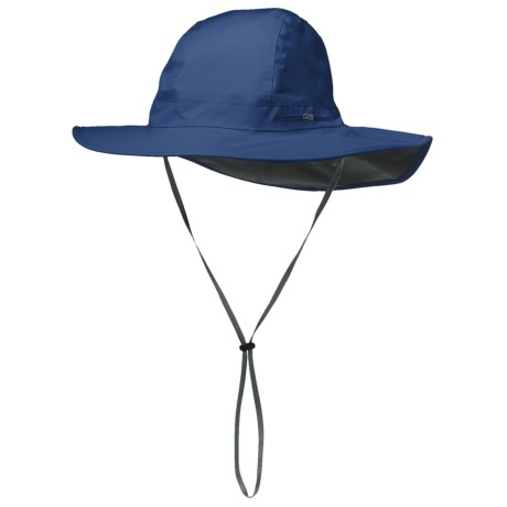 Outdoor Research Halo Sombrero Hat - Waterproof (For Men and Women) in True Blue