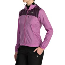 Outdoor Research Helium Hybrid Jacket - Windproof, Trim Fit (For Women) in Crocu/Orchid - Closeouts