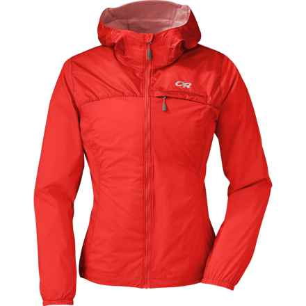 Outdoor Research Helium Hybrid Jacket - Windproof, Trim Fit (For Women) in Flame - Closeouts