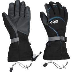 Outdoor Research Highcamp PrimaLoft® Gloves - Waterproof, Insulated (For Women) in Black