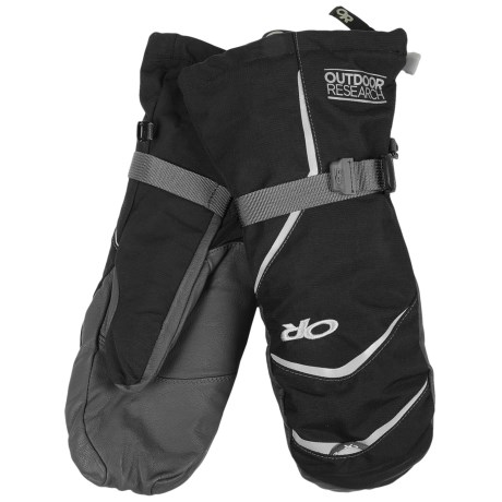 Outdoor Research Highcamp PrimaLoft® Mittens - Waterproof, Insulated (For Men) in Black