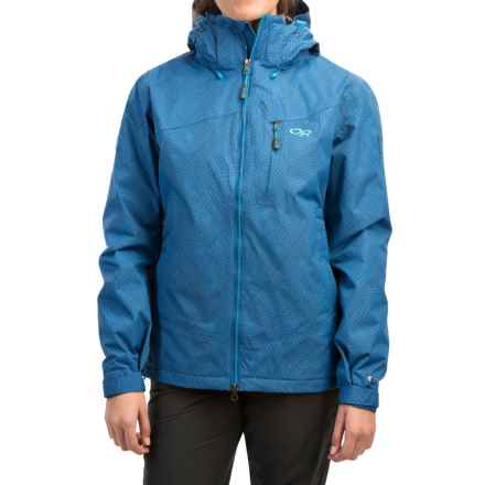 Outdoor Research Igneo Jacket - Waterproof, Insulated (For Women) in Cornflower/Rio Print - Closeouts