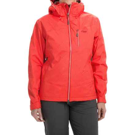 Outdoor Research Igneo Jacket - Waterproof, Insulated (For Women) in Flame/White Print - Closeouts
