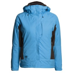 Outdoor Research Igneo Jacket - Waterproof, Insulated (For Women) in Sky/Espresso