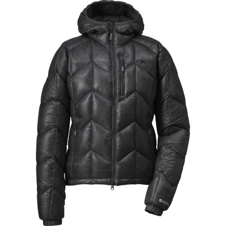 Outdoor Research Incandescent Down Hooded Jacket - 800+ Fill Power (For Women) in Black