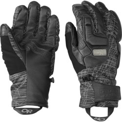 Outdoor Research Knuckleduster Gloves - Waterproof, Insulated (For Men) in Black Print/Black