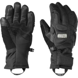 Outdoor Research Knuckleduster Gloves - Waterproof, Insulated (For Women) in Black