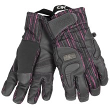 Outdoor Research Knuckleduster Gloves - Waterproof, Insulated (For Women) in Pewter Print/Pewter - Closeouts
