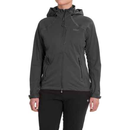 Outdoor Research Linchpin Hooded Jacket - Windstopper® (For Women) in Black - Closeouts