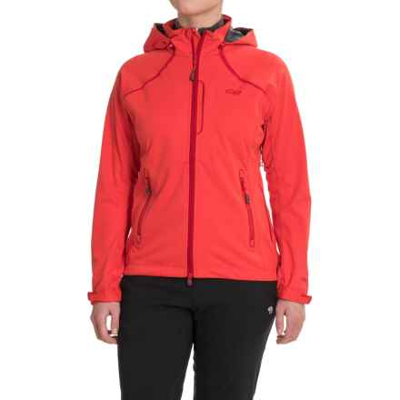 Outdoor Research Linchpin Hooded Jacket - Windstopper® (For Women) in Flame - Closeouts