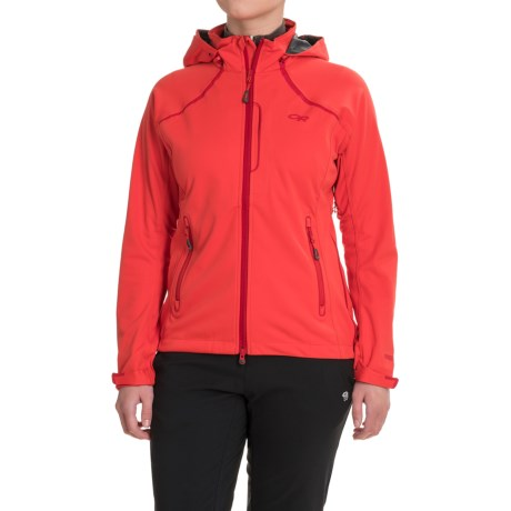 Outdoor Research Linchpin Hooded Jacket - Windstopper® (For Women) in Flame