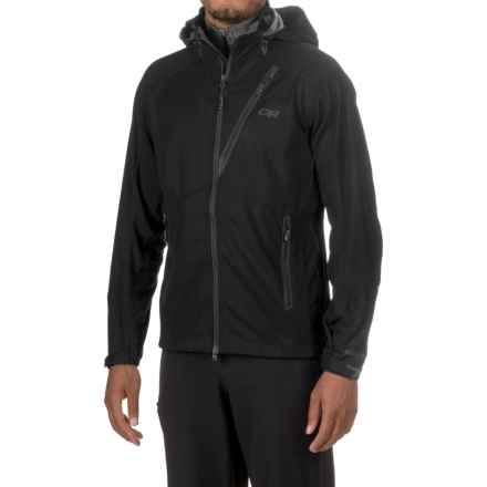 Outdoor Research Linchpin Windstopper® Hooded Jacket - Soft Shell (For Men) in Black - Closeouts