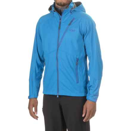 Outdoor Research Linchpin Windstopper® Hooded Jacket - Soft Shell (For Men) in Glacier - Closeouts
