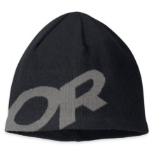 Outdoor Research Lingo Beanie Hat - Merino Wool (For Men and Women) in Black/Pewter - Closeouts
