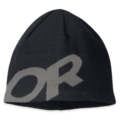 Outdoor Research Lingo Beanie Hat - Merino Wool (For Men and Women) in Black/Pewter