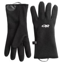Outdoor Research Longhouse Fleece Gloves (For Men) in Black - Closeouts