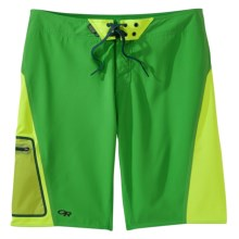Outdoor Research Lunch Counter Boardshorts - UPF 50 (For Men) in Flash/Lemongrass - Closeouts