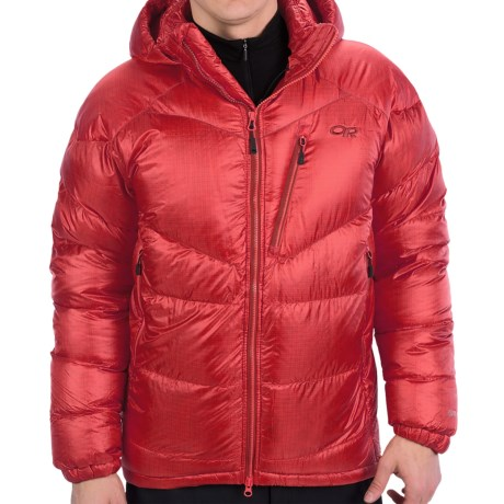 Outdoor Research Maestro Down Jacket - 800 Fill Power (For Men) in Hot Sauce/Redwood