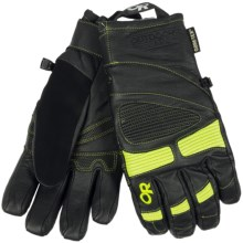 Outdoor Research Magnate Gore-Tex® Gloves - Waterproof, Insulated (For Men) in Black/Lemongrass - Closeouts