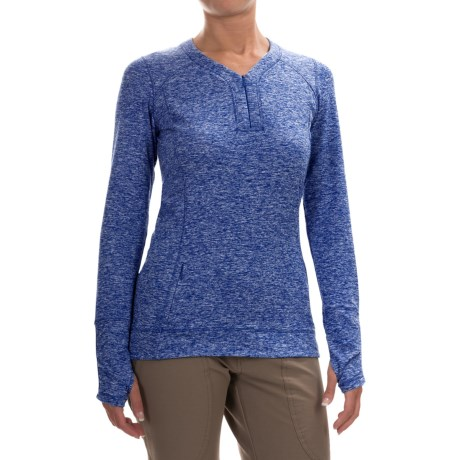 Outdoor Research Melody Shirt - Zip V-Neck, Long Sleeve (For Women) in Baltic