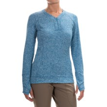 Outdoor Research Melody Shirt - Zip V-Neck, Long Sleeve (For Women) in Cornflower - Closeouts