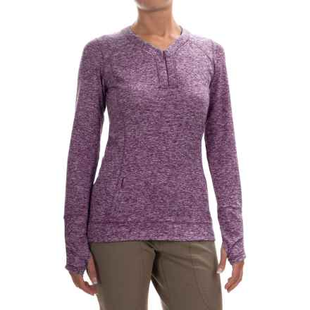 Outdoor Research Melody Shirt - Zip V-Neck, Long Sleeve (For Women) in Elderberry - Closeouts