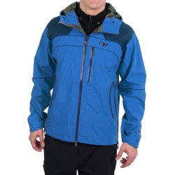 Outdoor Research Mentor Jacket - Waterproof (For Men) in Glacier/Abyss