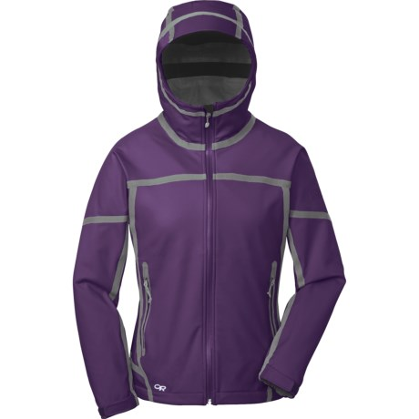 Outdoor Research Mithril  Soft Shell Jacket (For Women) in Blackberry