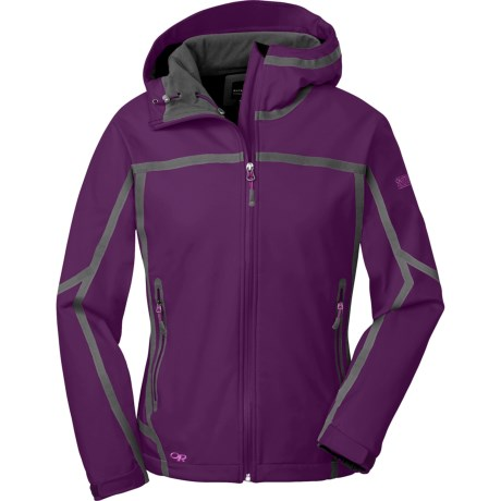 Outdoor Research Mithril  Soft Shell Jacket (For Women) in Orchid/Crocus