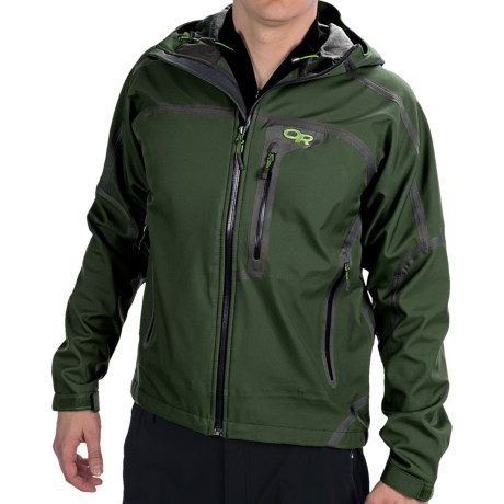 Outdoor Research Mithril Soft Shell Jacket - Waterproof (For Men) in Evergreen