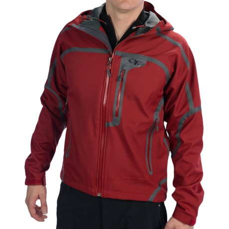 Outdoor Research Mithril Soft Shell Jacket - Waterproof (For Men) in Redwood