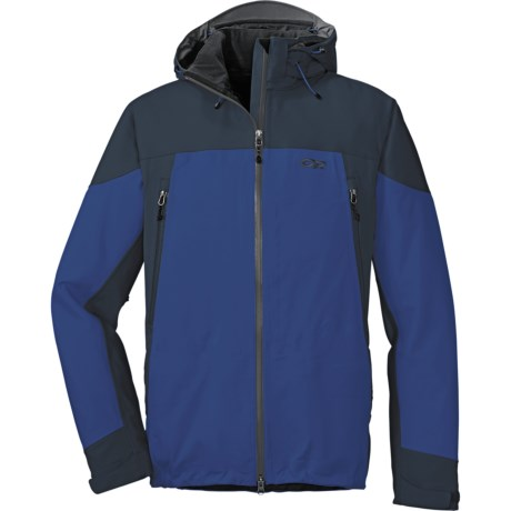 Outdoor Research Motto Soft Shell Jacket - Waterproof (For Men) in True Blue/Eclipse