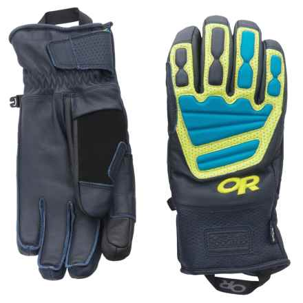 Outdoor Research Mute Sensor EnduraLoft Gloves - Waterproof, Insulated (For Men) in Night/Lemongrass/Hydro - Closeouts
