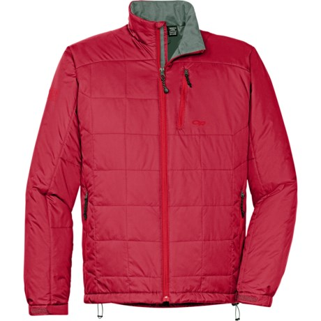 Outdoor Research Neoplume Jacket - PrimaLoft® ECO (For Men) in Redwood/Hot Sauce/Pewter