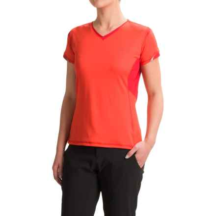 Outdoor Research Octane Shirt - Short Sleeve (For Women) in Flame/Scarlet - Closeouts