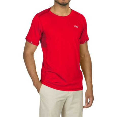Outdoor Research Octane T-Shirt - Short Sleeve (For Men) in Hot Sauce/Agate