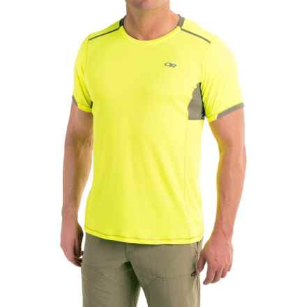 Outdoor Research Octane T-Shirt - Short Sleeve (For Men) in Jolt/Pewter - Closeouts