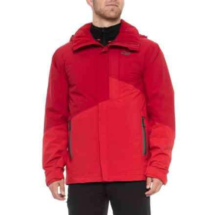 Outdoor Research Offchute Ski Jacket - Waterproof, Insulated (For Men) in Agate/Hot Sauce - Closeouts