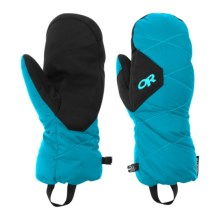 Outdoor Research Phosphor Windstopper® Down Mittens - 650 Fill Power (For Men) in Alpine Lake/Rio - Closeouts