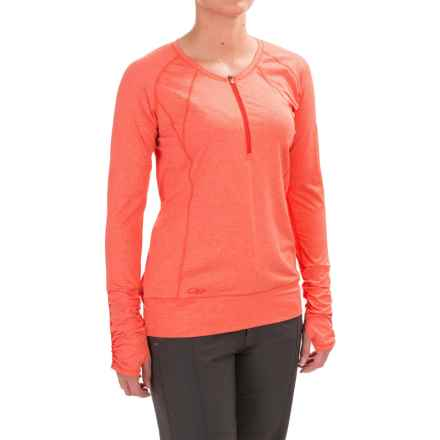 Outdoor Research Playa Zip Neck Shirt - UPF 50+, Long Sleeve (For Women) in Flame - Closeouts
