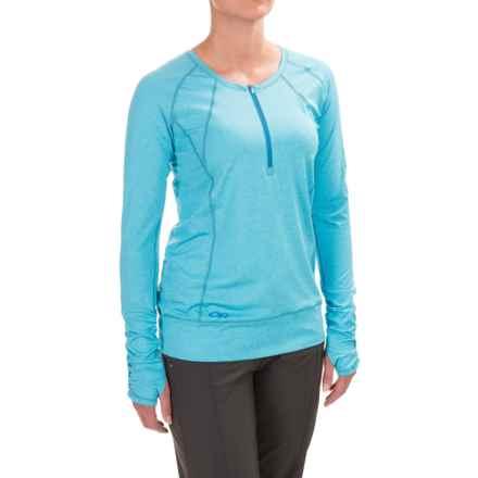 Outdoor Research Playa Zip Neck Shirt - UPF 50+, Long Sleeve (For Women) in Rio - Closeouts