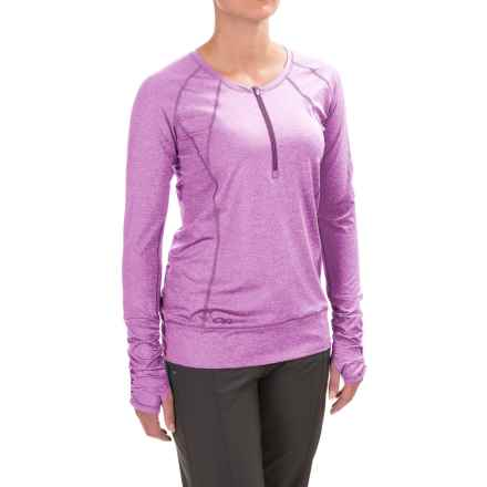 Outdoor Research Playa Zip Neck Shirt - UPF 50+, Long Sleeve (For Women) in Ultraviolet - Closeouts