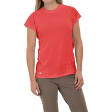 Outdoor Research Polartec® Power Dry® Torque T-Shirt - Short Sleeve (For Women) in Flame - Closeouts