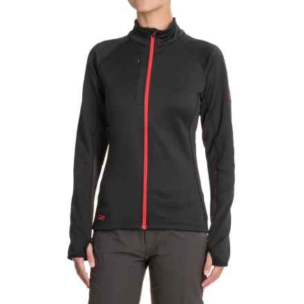 Outdoor Research Radiant Hybrid Fleece Jacket (For Women) in Black/Flame - Closeouts