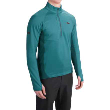 Outdoor Research Radiant Hybrid Fleece Shirt - UPF 15, Zip Neck (For Men) in Vintage - Closeouts