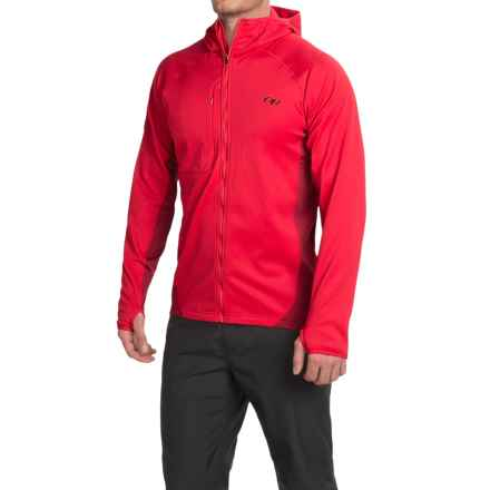 Outdoor Research Radiant Hybrid Hoodie Sweatshirt (For Men) in Hot Sauce/Redwood - Closeouts